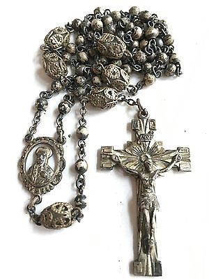 Beautiful Vintage Creed Solid Sterling Silver Rosary Jewelry Estate Lot