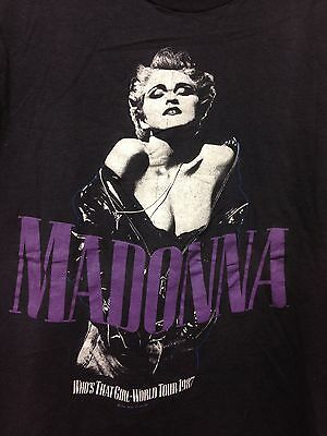 Vintage 1987 Madonna Who's That Girl World Tour Single Stitch T-shirt Size Large