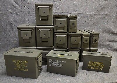 ( 18 Pack ) Combo 50 Cal/308 Cal/Fat 50 Cal AMMO CAN VERY GOOD CONDITION