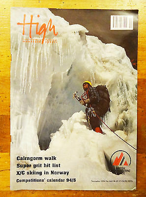 High Mountain Sports Magazine Issue 144 November 1994 Climbing Mag Back Issue