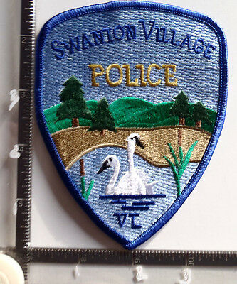 Swanton Village VT POLICE Patch VERMONT Swans Trees Water Mountains