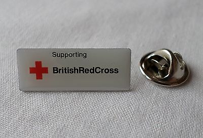 Silver Tone & Enamel: SUPPORTING BRITISH RED CROSS  [Pin Badge] (3)