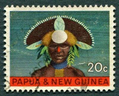 PAPUA NEW GUINEA 1968 20c SG127 used NG National Heritage #W9