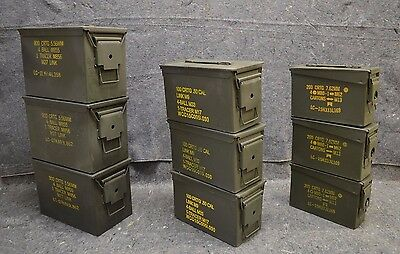 ( 9 Pack ) Combo 50 Cal/308 Cal/Fat 50 Cal AMMO CAN VERY GOOD CONDITION
