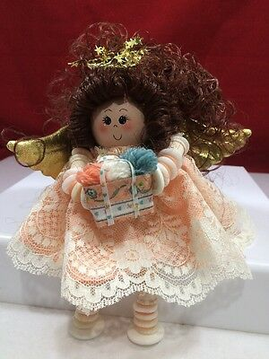Handmade Button and Thread Spool Doll '' BUTTON BABY'' #005