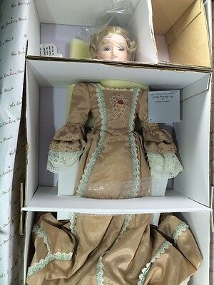 "Porcelain doll ""Bess"" by Rose Pinkul, The Danbury Mint 22"""