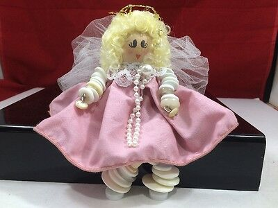 Handmade Button and Thread Spool Doll '' BUTTON BABY'' #011