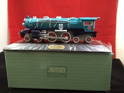 Avon The Lionel Classic Train Collection, Blue Comet With Wood Display Base
