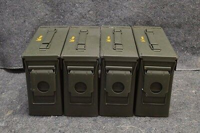 ( 4 PACK) 7.62 / 30 Cal M19A1 AMMO CAN VERY GOOD CONDITION ** FREE SHIPPING**
