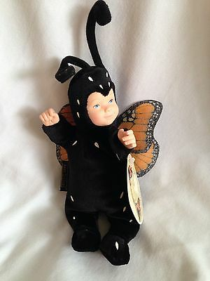 "10"" Anne Geddes Baby Doll Dressed As Monarch Butterfly Plush Beanie"
