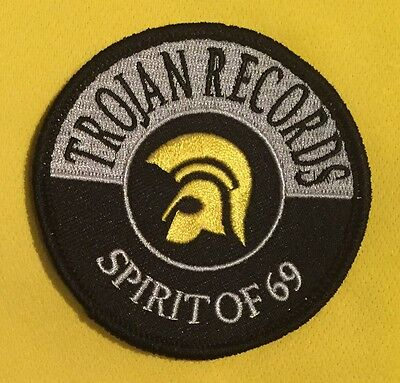 Trojan Records Sew On Embroidered Patch