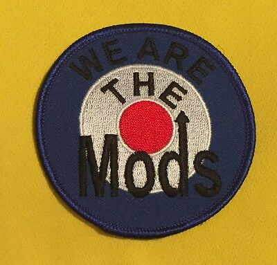 We Are The Mods Sew On Embroidered Patch
