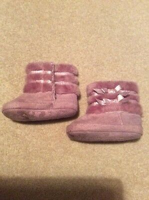 F&F baby girl Slippers Boots Purple size 6-12 months