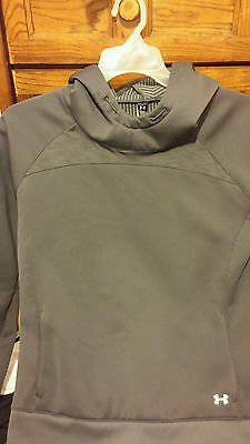 Ladies large UNDER ARMOUR hooded COLD GEAR fleece dual layer