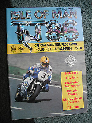 Isle of Man T.T 1986 Official Race Programme