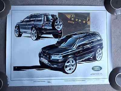 Limited edition signed Land Rover Freelander print