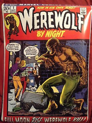 werewolf by night # 1 cover Poster /Sticker One of a kind collectable