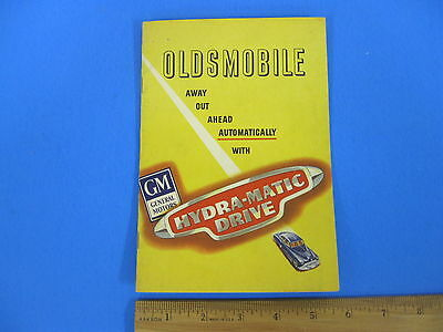 Old Original Vintage 1948 Oldsmobile Hydra-matic Drive Automatic Booklet Manual