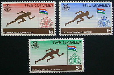 Gambia: 1970 & 1971: 3 Sets Of 3 Mnh Stamps