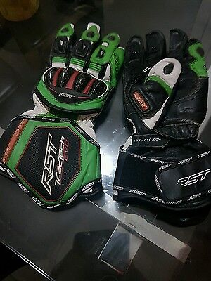 motorcycle gloves RST Tractech Evo XXL Green /  Black