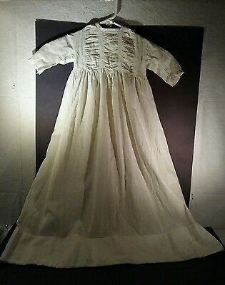 Antique baby christening gown with ruched top