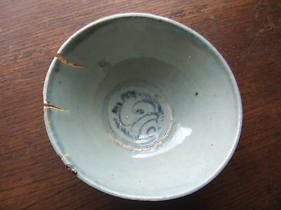 CHINA.  MING DYNASTY.  16th/17th CENTURY  A  SUPERB BLUE GLAZED POTTERY BOWL,
