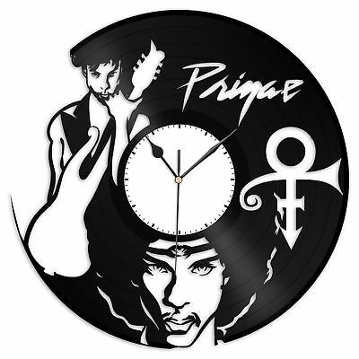 Prince Vinyl Wall Clock Record American Pop Songwriter Musician & Actor Decor