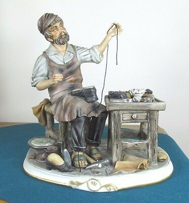 Capodimonte Figure Of Cobbler By Cortese - Good Quality