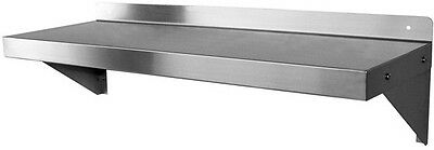 "Stainless Steel Wall Mount Shelf 18"" x 72"""