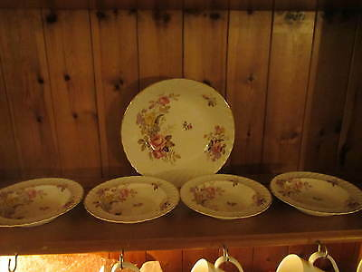 Royal wessex ironstone fortuna china plates and serving bowl
