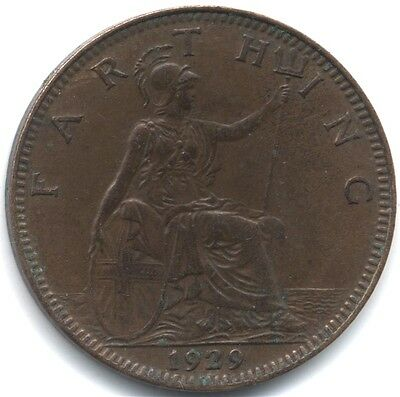 1929 George V Farthing***Collectors***