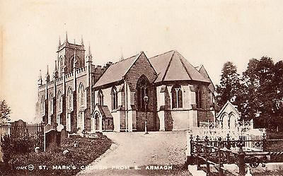 ST. MARKS'S CHURCH FROM SOUTH. ARMAGH IRELAND VALENTINES IRISH POSTCARD No.17557