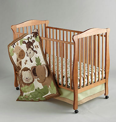 NoJo Little Bedding 3 Piece Crib Bedding Set - Baby Safari