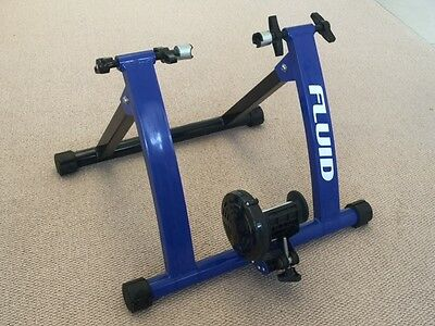 FLUID INDOOR FITNESS BIKE TRAINER CYCLING STAND-Unisex Exercise Gym as New