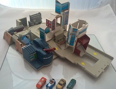 Micro Machines Folding Mini City PlaySet and Vehicles Vintage Retro 90's
