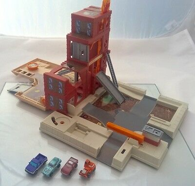 Micro Machines Folding Fire Station PlaySet and Vehicles Vintage Retro 90's
