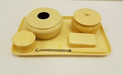 Vintage IVORY PYRALIN, Imperial Brand mixed Lot of Celluloid Vanity Pieces