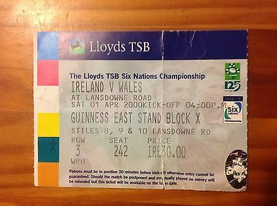 Ireland v Wales 2000 Used Rugby Ticket