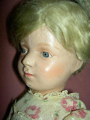 """16"""" antique Schoenhut, fully jointed wood doll, incised signature, 300 series"""