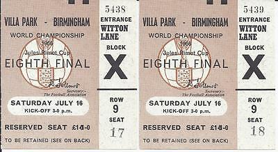 1966 World Cup Finals Ticket Argentina v West Germany Excellent Condition
