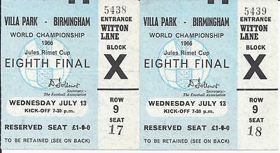 1966 World Cup Finals Ticket Argentina v Spain Excellent Condition