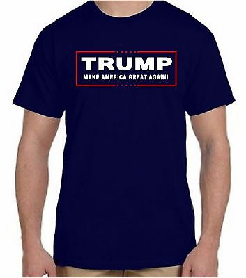 Donald TRUMP President T Shirt Official Logo Navy Make America Great Again!