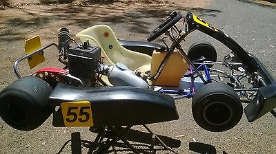 """Arrow Kart-With 3 Yamaha 100S""""s-Complete Set-Up-With Spares"""