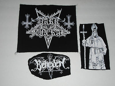 Dark Funeral Back Patch & 2 Behexen Patches Horna Sargeist Tsjuder Bathory Judas