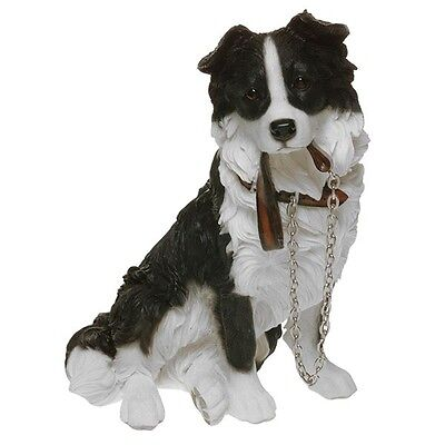 Border Collie Dog Figure By The Leonardo Collection