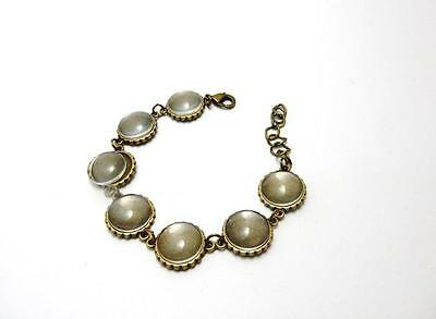 Bronze bracelet blank setting with 16 mm round glass cabochons jewellery making
