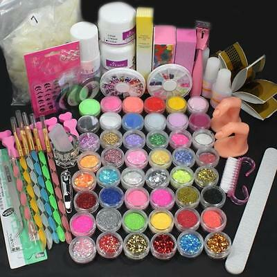 Ladies Pro Full 36W White Cure Lamp Dryer + 12 Color UV Gel Nail Art Tools Set
