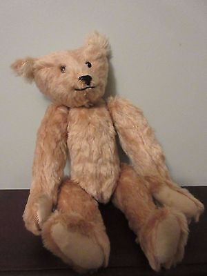 Vintage  Character Teddy Bear, Pale tan mohair 14 inches