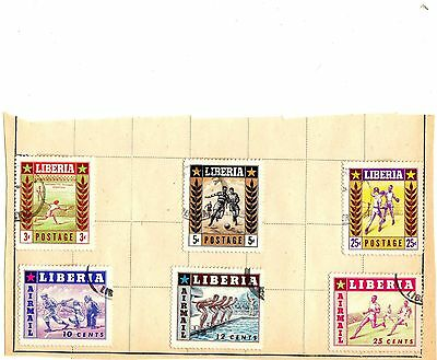 Liberia Stamps Sports Set of 6