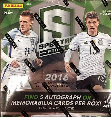 2016 Panini Spectra Soccer Hobby Factory Sealed Box